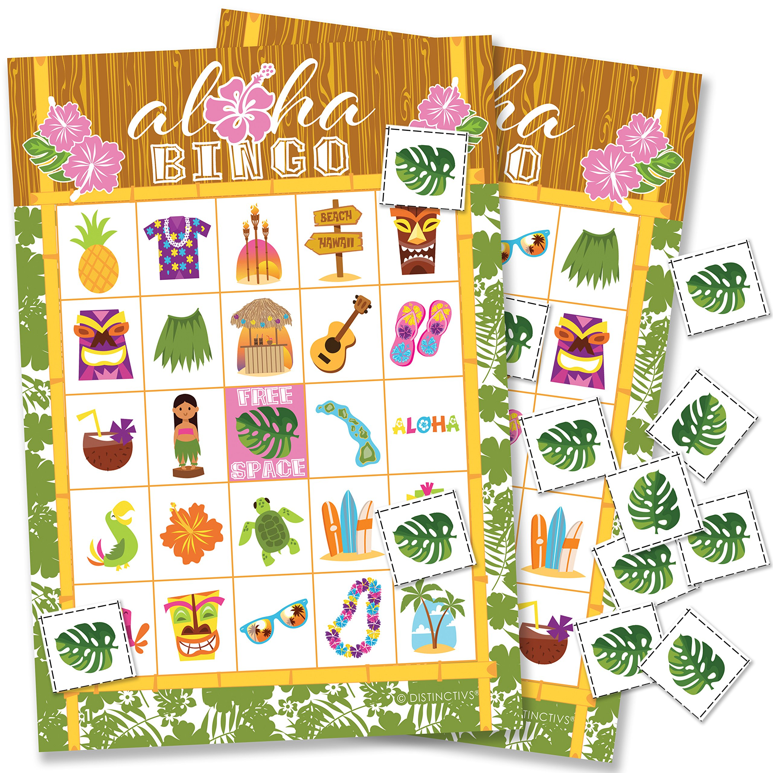 Hawaiian Luau Bingo Game - 24 Players