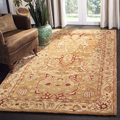 Safavieh Anatolia Collection AN515A Handmade Traditional Oriental Straw and Ivory Wool Area Rug 10 x 14