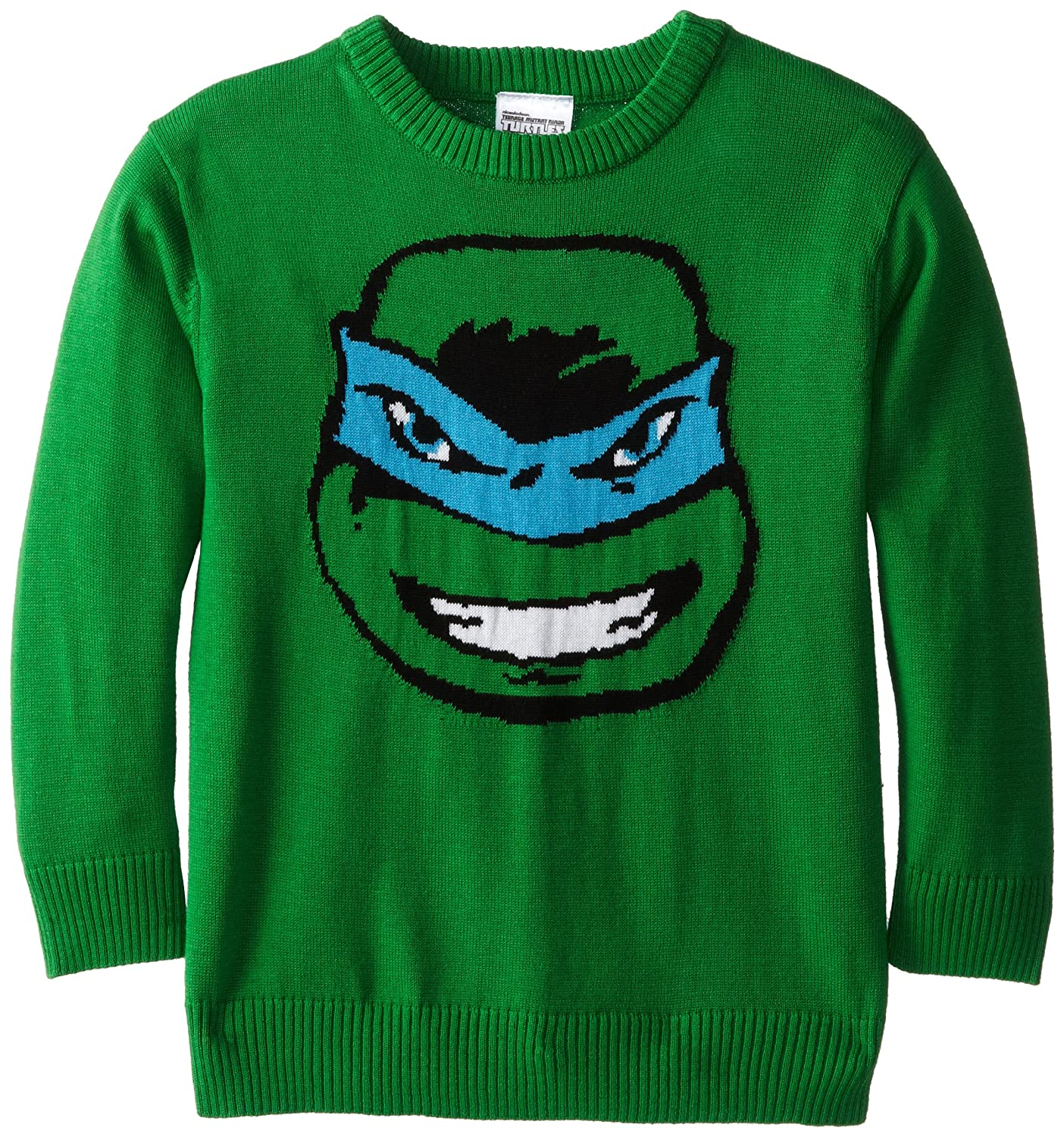 Teenage Mutant Ninja Turtles Boys' TMNT Leonardo Intarsia Sweater Freeze Children's Apparel NJSB972-3B39