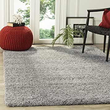 Safavieh California Shag Collection SG151 7575 Silver Area Rug (8u0027 X 10u0027