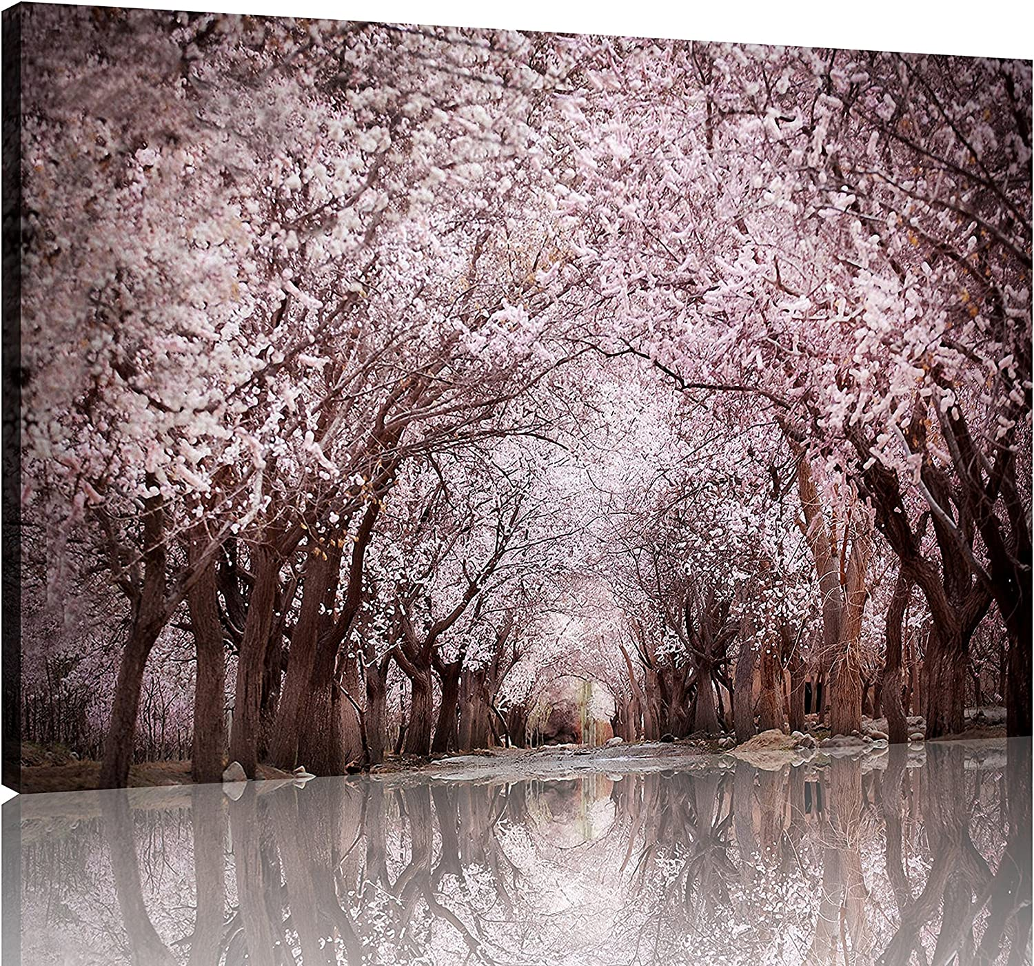 NAN Wind 1 Piece Modern Cherry Blossom Trees Large Wall Art Canvas Picture Artwork Landscape Wall Decor Wall Art Canvas Home Decor Decoration Bedroom Living Room