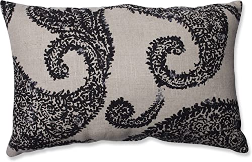 Pillow Perfect Henley Rectangular Throw Pillow, Black Tan
