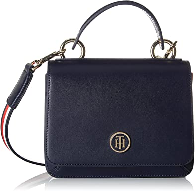 Tommy Hilfiger - Youthful Heritage Flap Crossover, Carteras de mano Mujer, Azul (Tommy