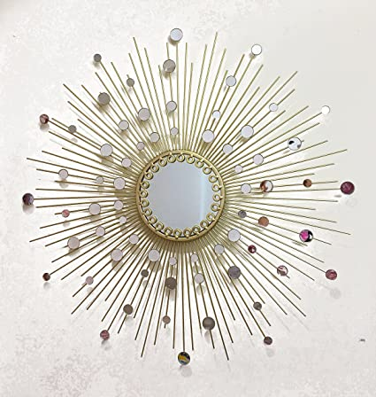 Fancy Bathroom Mirrors,Living Room Wall Mirror, Kitchen Wall Mirror  Decorative Starburst Mirror,