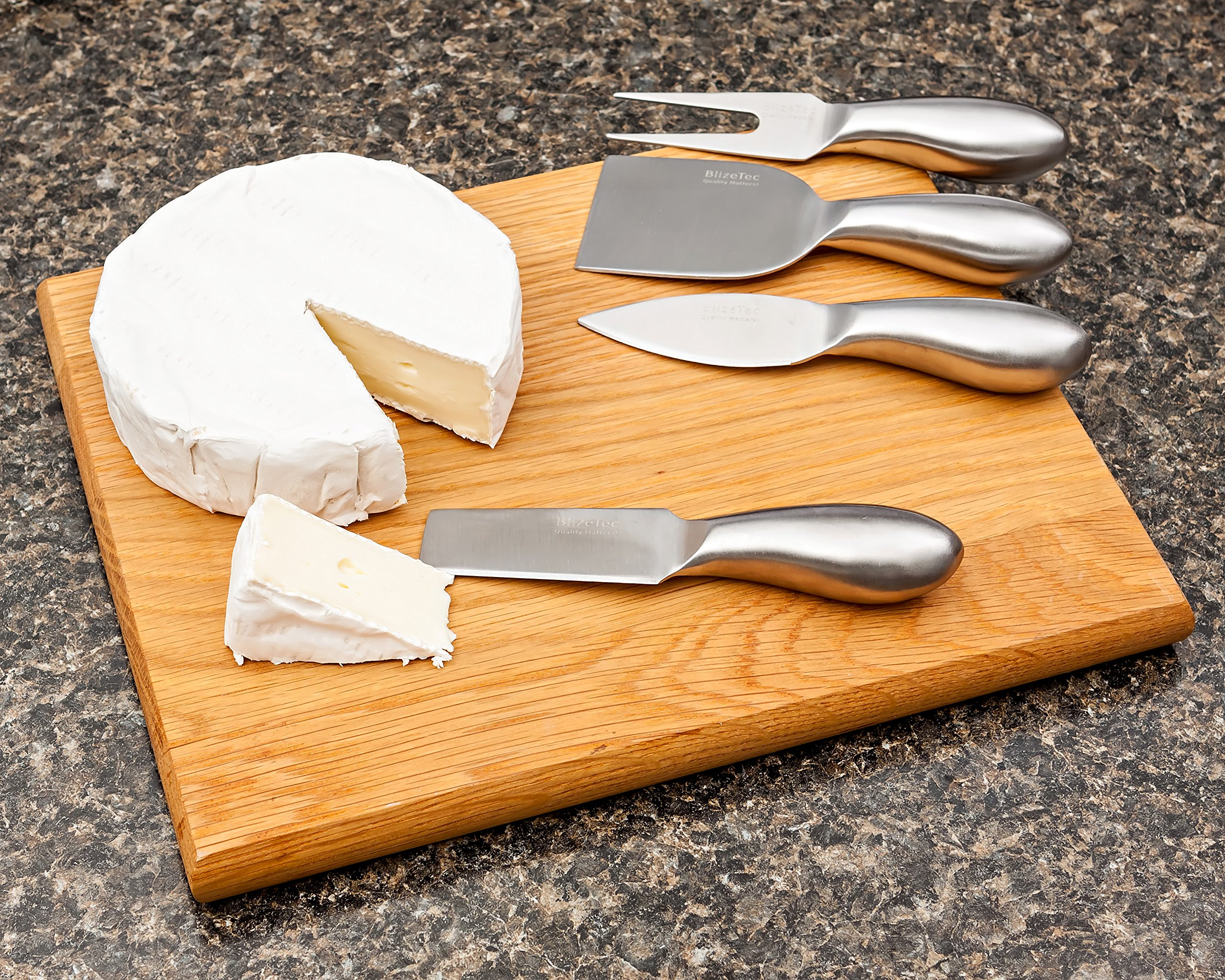 Cheese Knives: BlizeTec Cheese Slicer & Cutter Set (4 pcs) by BlizeTec (Image #2)