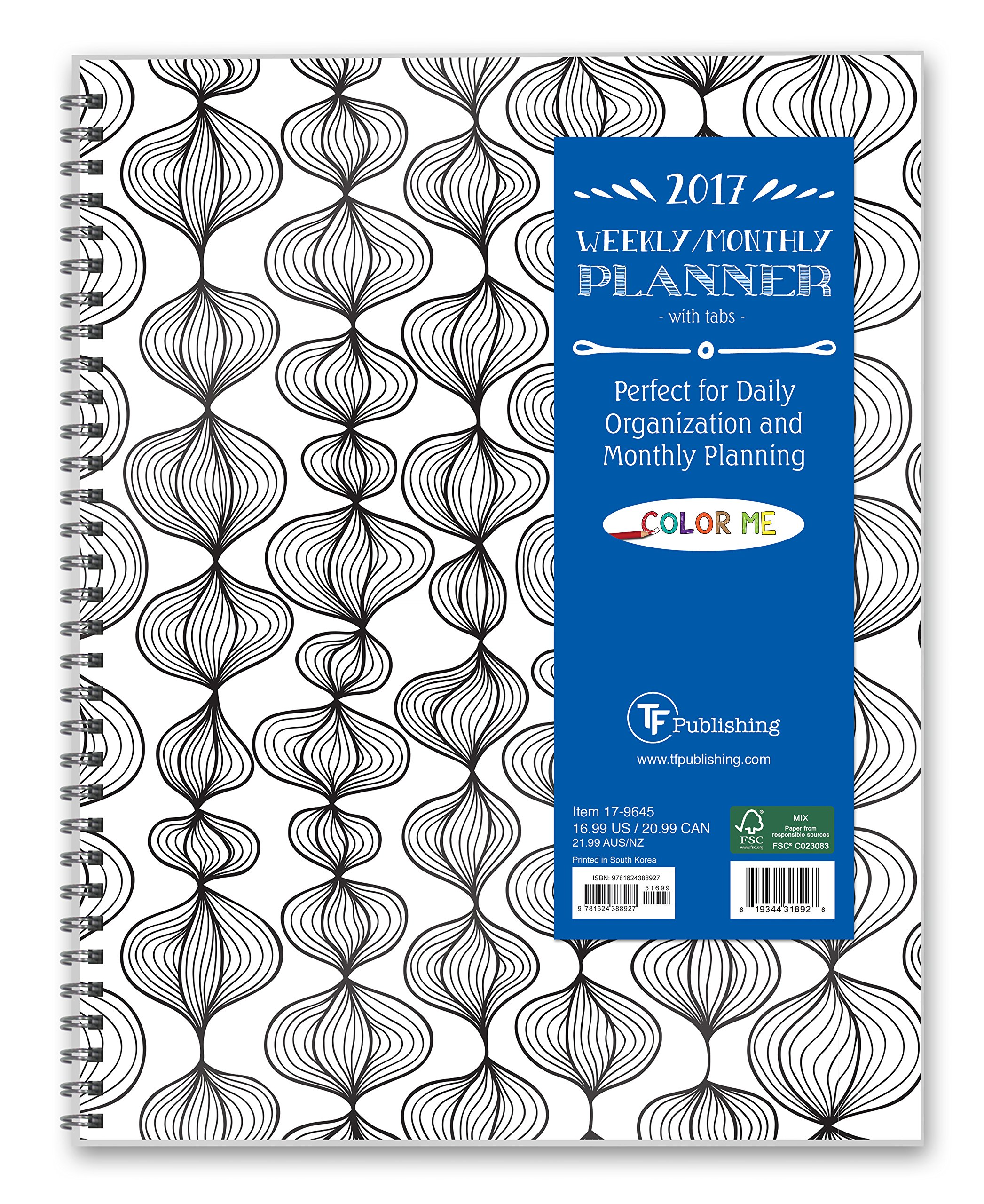 2017 COLOR ME Organized 12 Month Perfect Planner