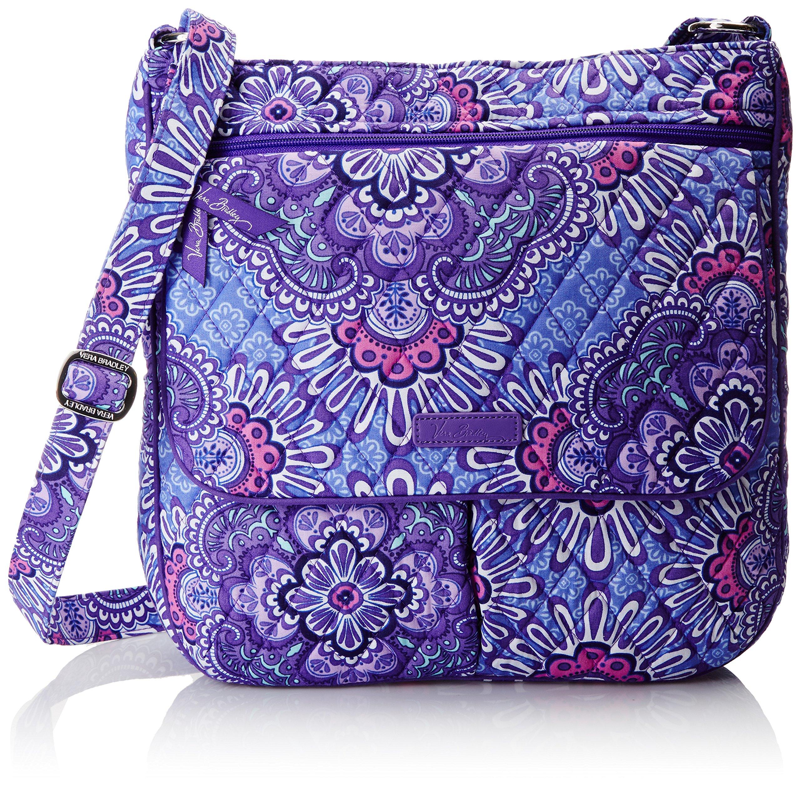 Vera Bradley Women's Double Zip Mailbag, Lilac Tapestry