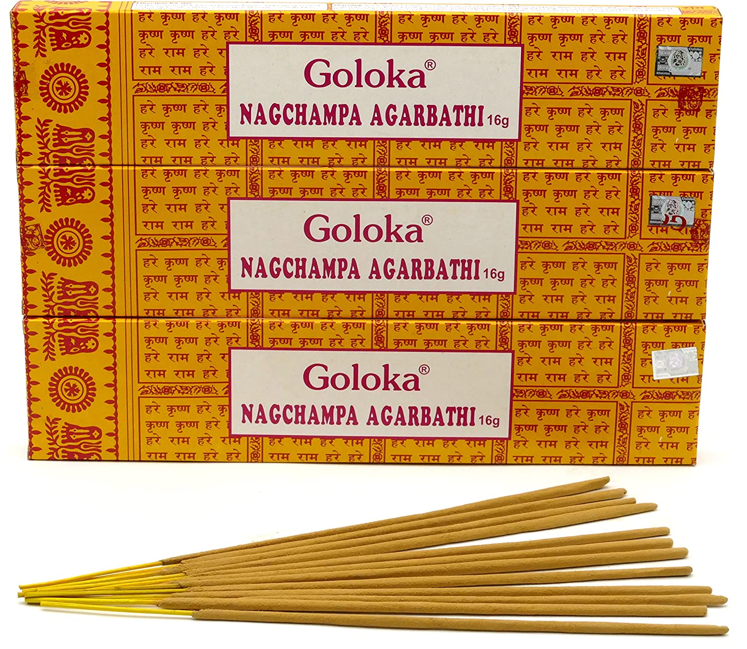 Goloka Nag Champa Incense (1 Box)