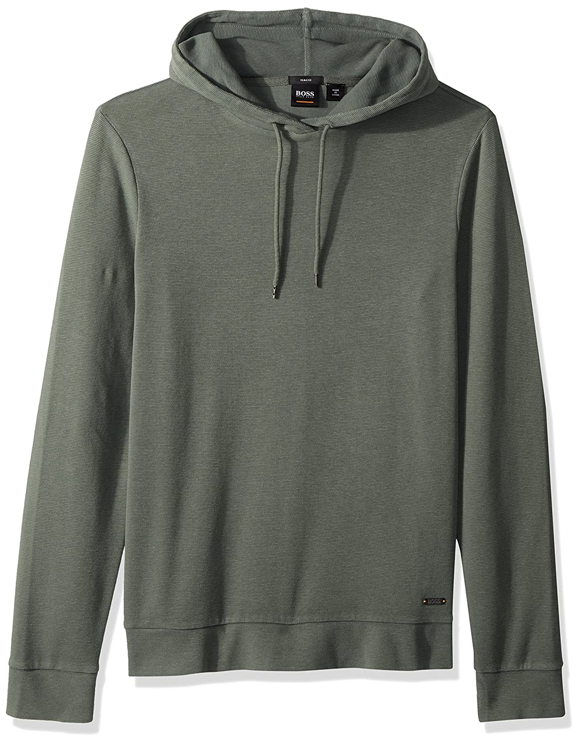 0cc1063e Amazon.com: BOSS Orange Men's Cotton Lightweight Waffle Hoodie: Clothing