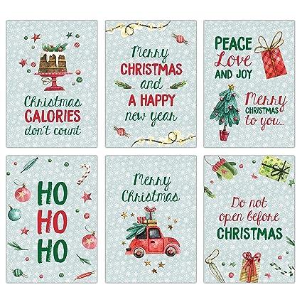 Papierdrachen - Juego de 12 tarjetas de felicitación navideñas ...