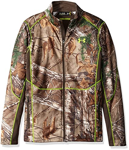 3cf1c41684229 Under Armour Boys' Scent Control Camo Jacket, Realtree Ap-Xtra/Velocity,