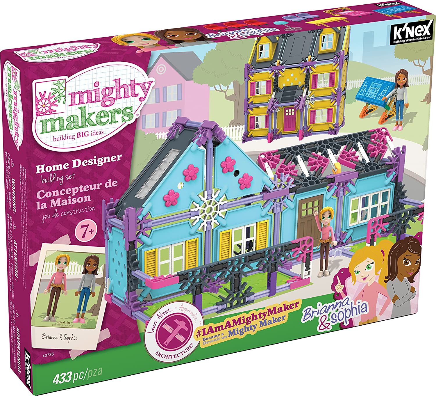 Amazoncom Ku0027nex Mighty Makers Home Designer Building Set Toys U0026  Games. Part 60