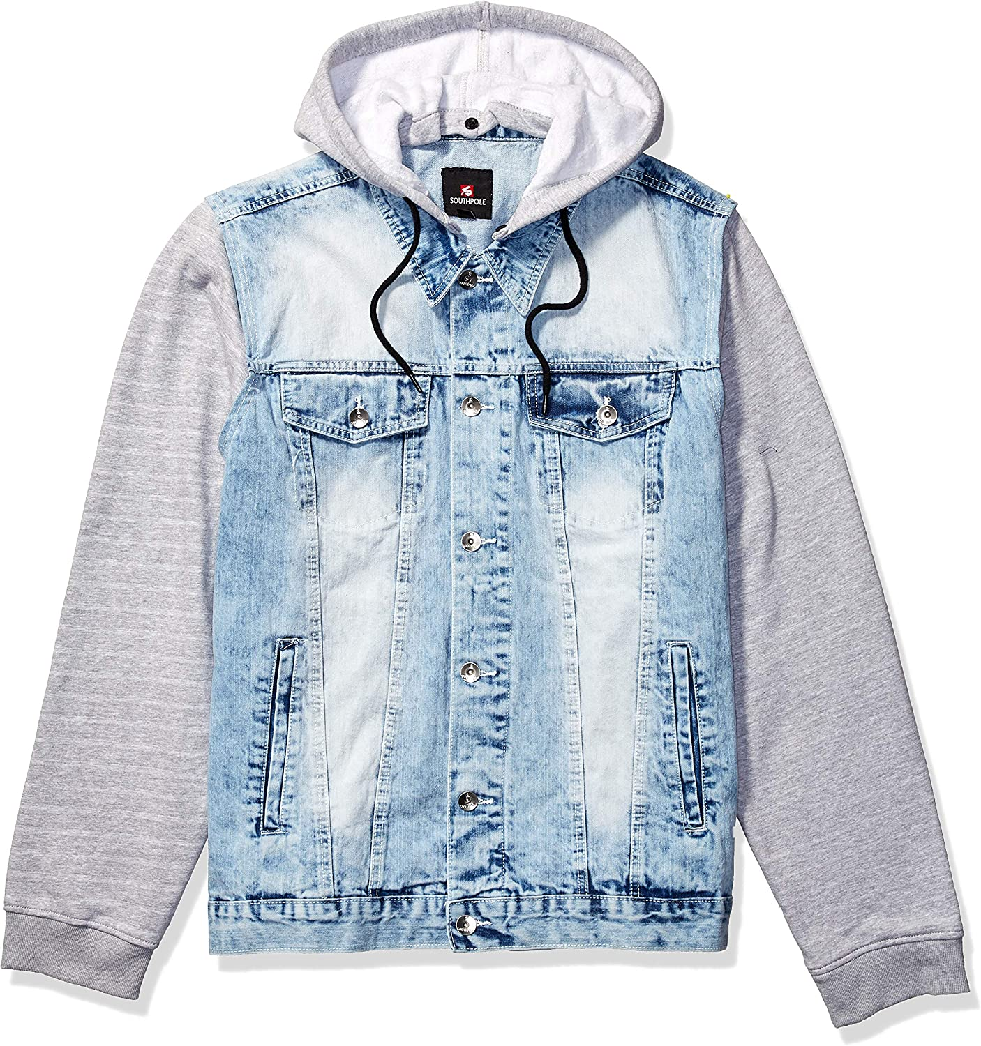Southpole Men's Big and Tall Fashion Denim Jacket: Clothing