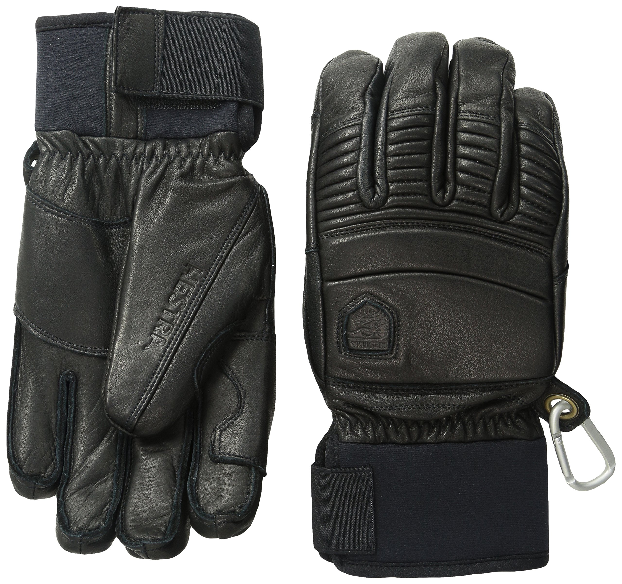 Hestra Fall Line Leather Short Ski, Ride and Park Glove,Black,8