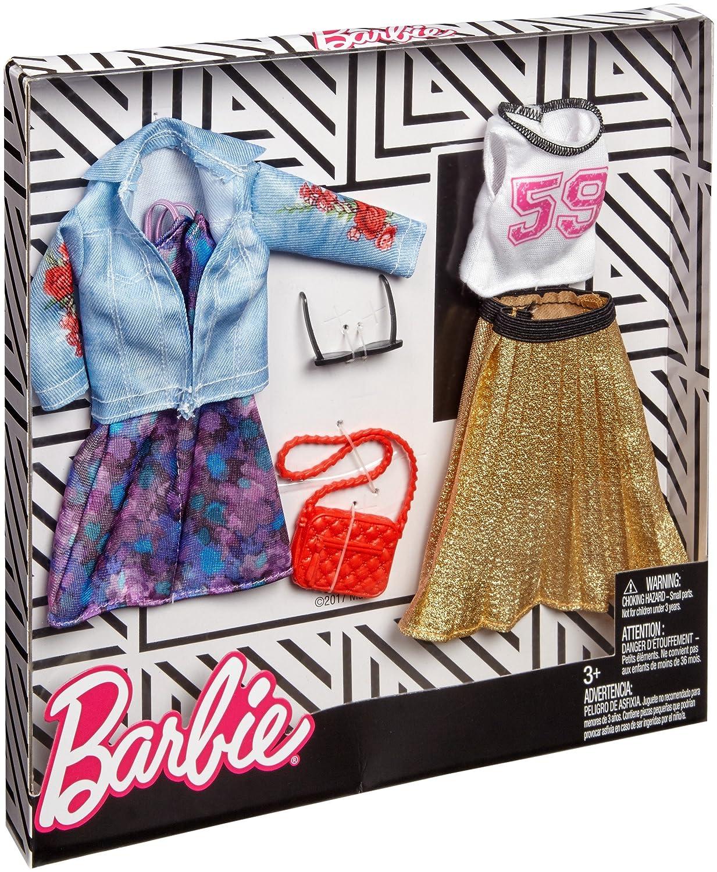 2 Moda Set Mattel Chick /& Jeans Ropa de la Mu/ñeca Barbie FKT38