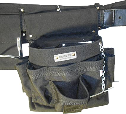 """Boulder Bag 104XL-GR Electrician Comfort Combo w/Metal Buckle Belt Size Extra Large 40"""" to 44"""" .Color Gray. Made in U.S.A."""