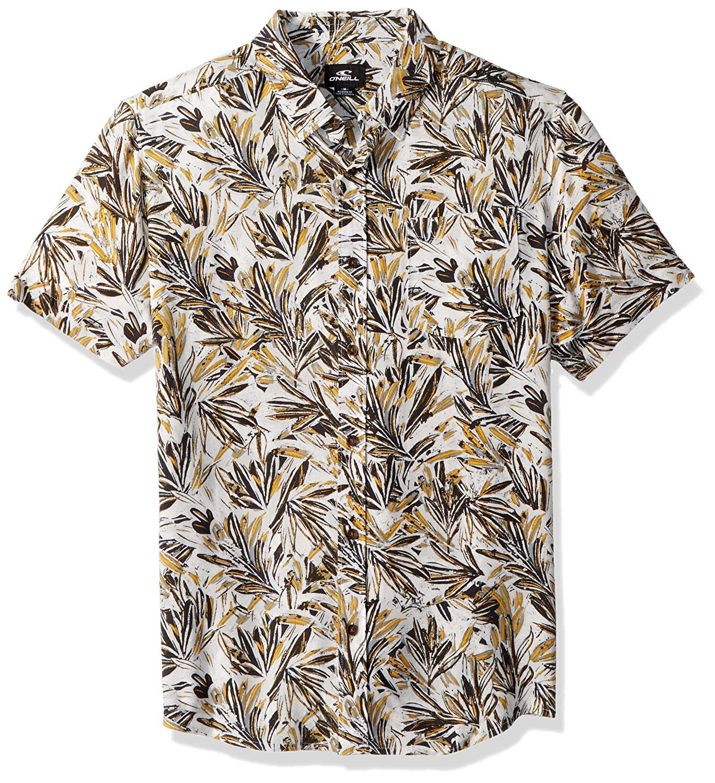 ONeill Mens Modern Fit Chest Stripe Short Sleeve Woven: Amazon ...