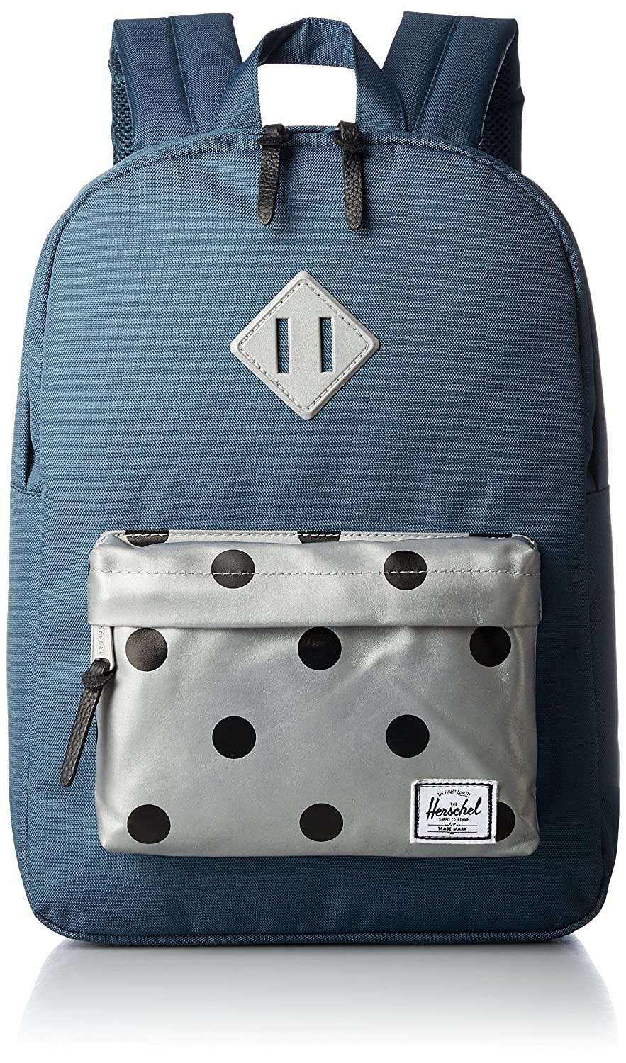 Herschel Heritage Youth Indian Teal Grey 3M Polka Dot 3M Rubber  Amazon. 631e7cf443a25
