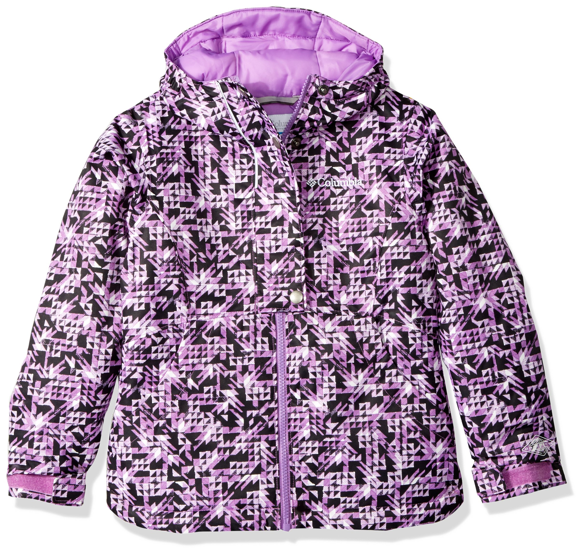 Columbia Girls Snowcation Nation Jacket, Black Checker Print, X-Small