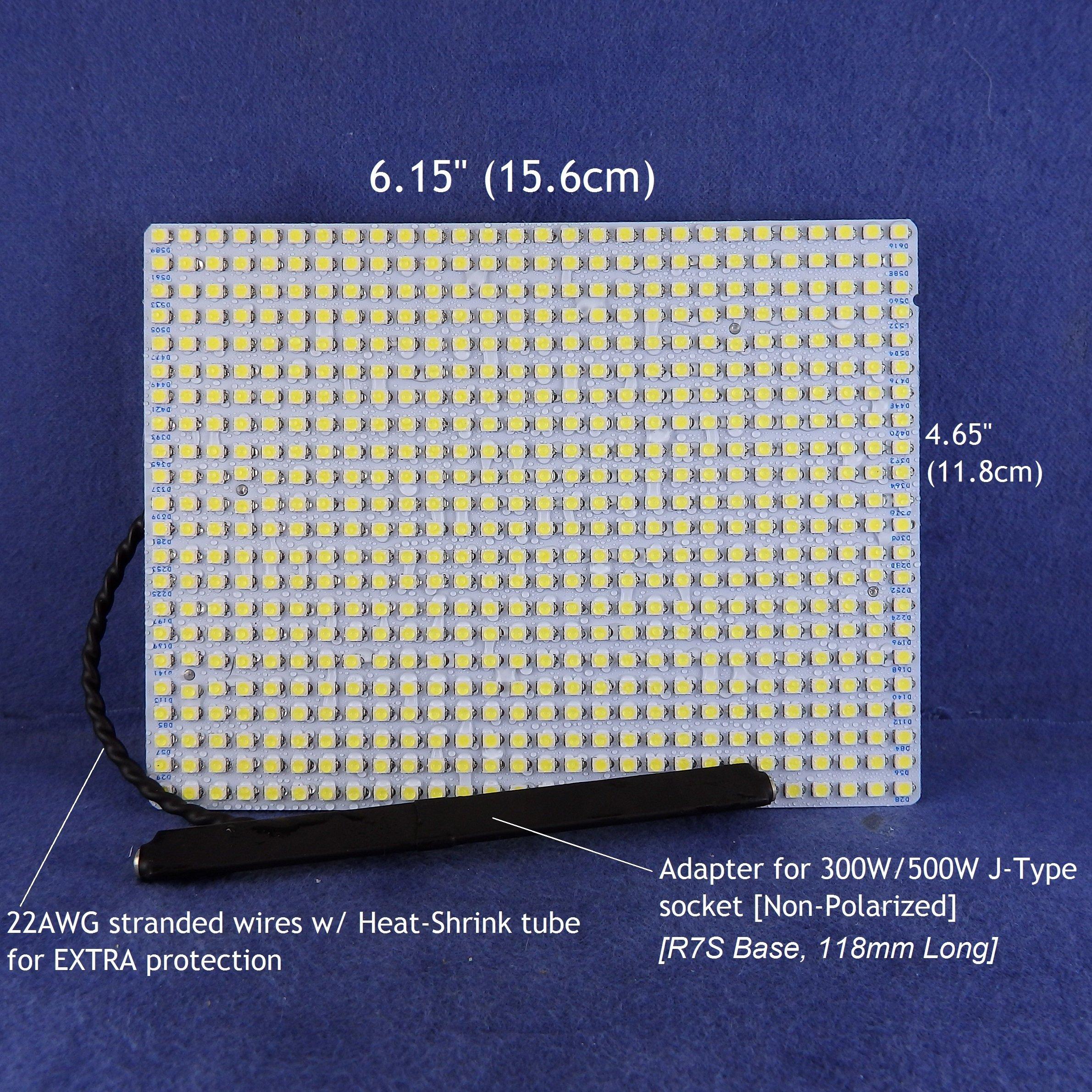 277Vac WATER-RESISTANT LED Light panel for RETROFIT 300W/500W Halogen light fixtures -- 5000Lumens 24Watts -- COOL WHITE (6000K) LED color. P/N: SPTL616LRC-277V
