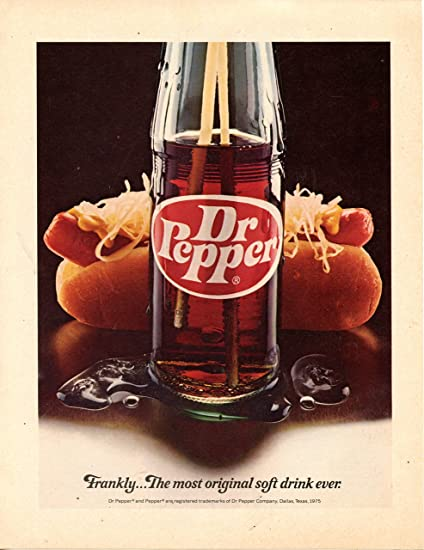 Amazon com: Dr  Pepper Vintage Magazine Ad- Frankly   The