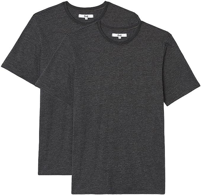 FIND Camiseta Entallada Hombre, Pack de 2