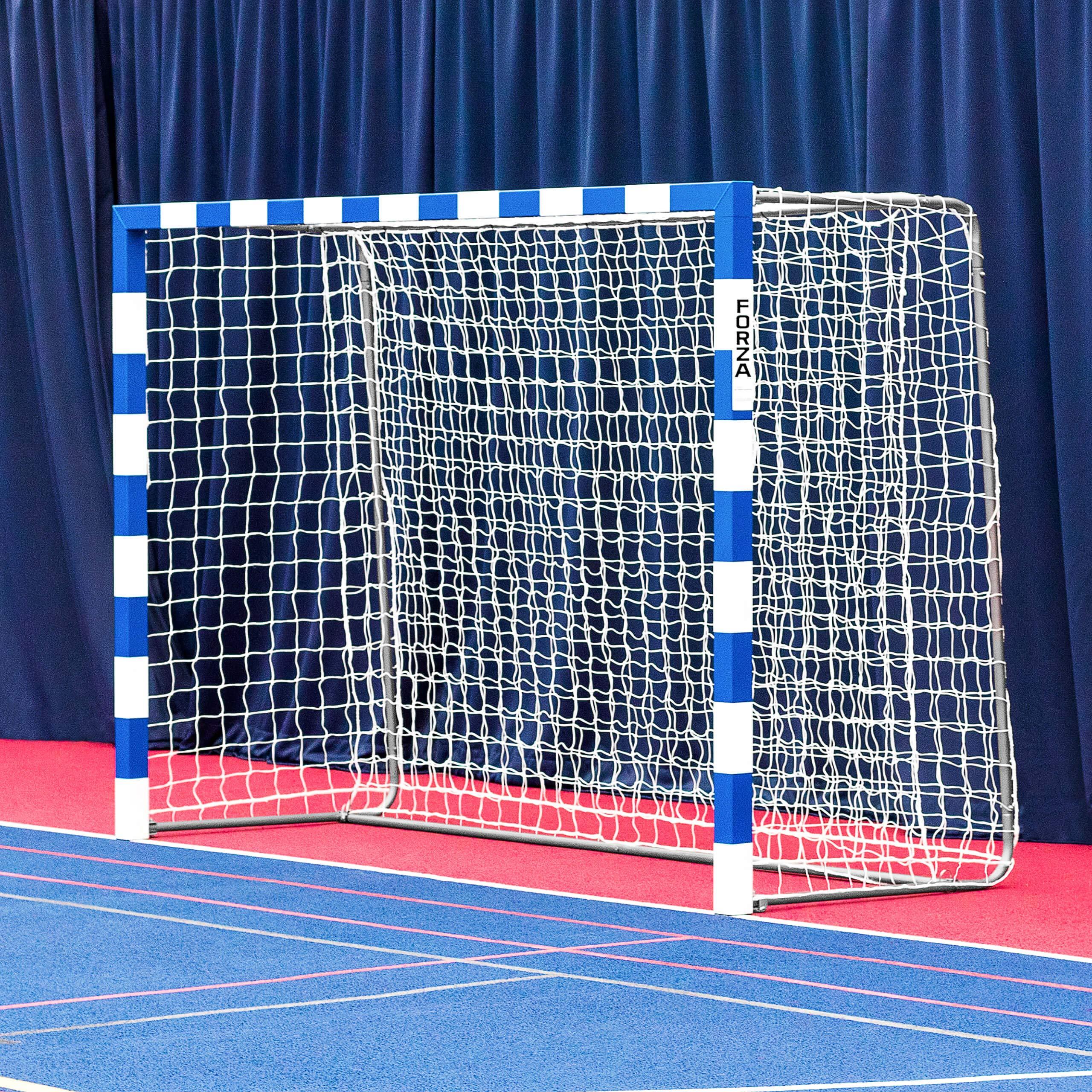 Forza Alu80 Competition Handball Goals   IHF Regulation Size 3m x 2m Handball Goal [Net World Sports] (Single, Blue)