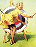 Vintage Pin Up Girl Poster 0018 ... Various Sizes (A4 Size 21 x 29 cms)
