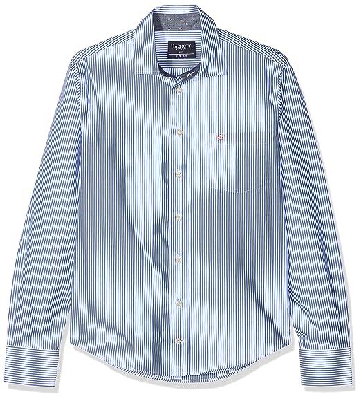 Hackett London Bengal Stripe Shir, Blusa para Niños, (Blue/White 5AR), 13 Años: Amazon.es: Ropa y accesorios
