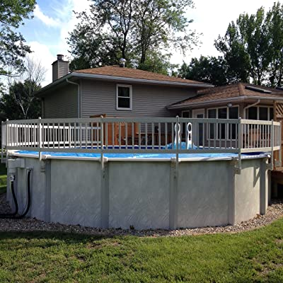 Vinyl Works 24- Inch Taupe Premium Resin Above-Ground Pool Fence Base Kit A - 8 Sections : Swimming Pool Safety Products : Garden & Outdoor