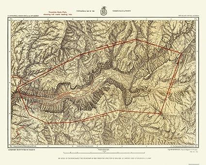 Amazon.com: Topographical Map Print - Yosemite California Quad ...