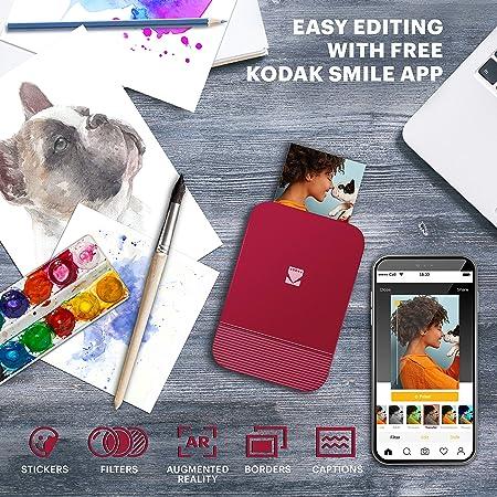 Kodak Smile Photo Printer For Smartphone Inkless Camera Photo