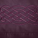 Cathay Home Luxury Love Knot Embroidered Microfiber