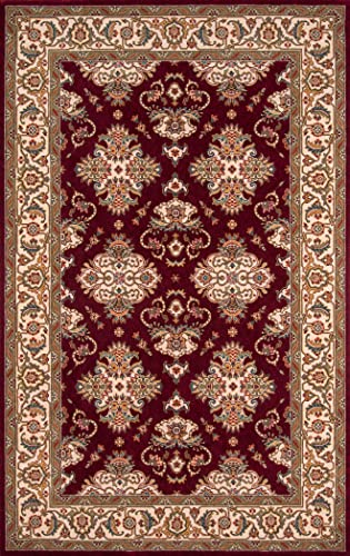 Momeni Rugs Persian Garden Collection, 100 New Zealand Wool Traditional Area Rug, 2 x 3 , Burgundy