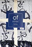 C&F Home 100% Cotton Woven Throw Blanket Navy Blue Anchors on White with Tassels -- Chenille Anchor