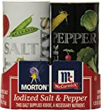 Morton Salt and Pepper Shakers, 5.25 Ounce (Pack of 12)