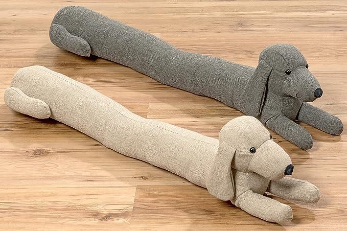Accessorio ferma aria per fessure a forma di cane color beige 90cm
