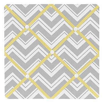 Amazon.com: Sweet Jojo Designs Yellow and Gray Chevron Zig Zag ...