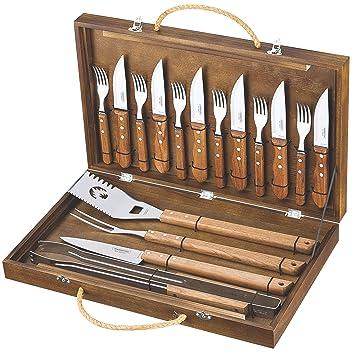 Tramontina 26499/039 - Kit de utensilios para barbacoas (madera)