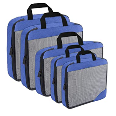 Compression Packing Cubes Travel Organizer (5) Set, Expandable Bag for Luggage