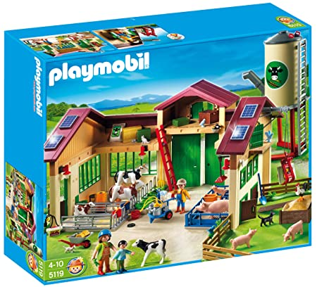 Playmobil Barn With Silo Construction Set Action & Toy Figures at amazon