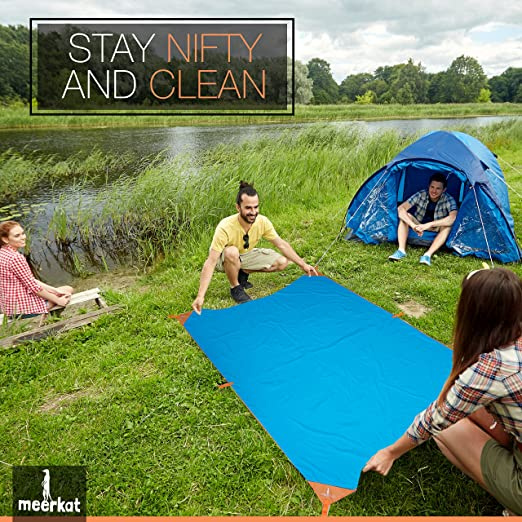 e70e8443dfaa Backpacking Tarp. Camping, Picnic & Beach Blanket/Mat. X-Large 85