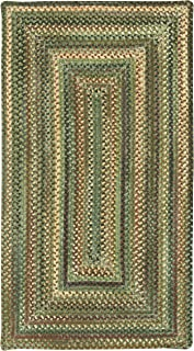 product image for Capel Rugs Eaton Rectangle Braided Area Rug, 8 x 11', Green