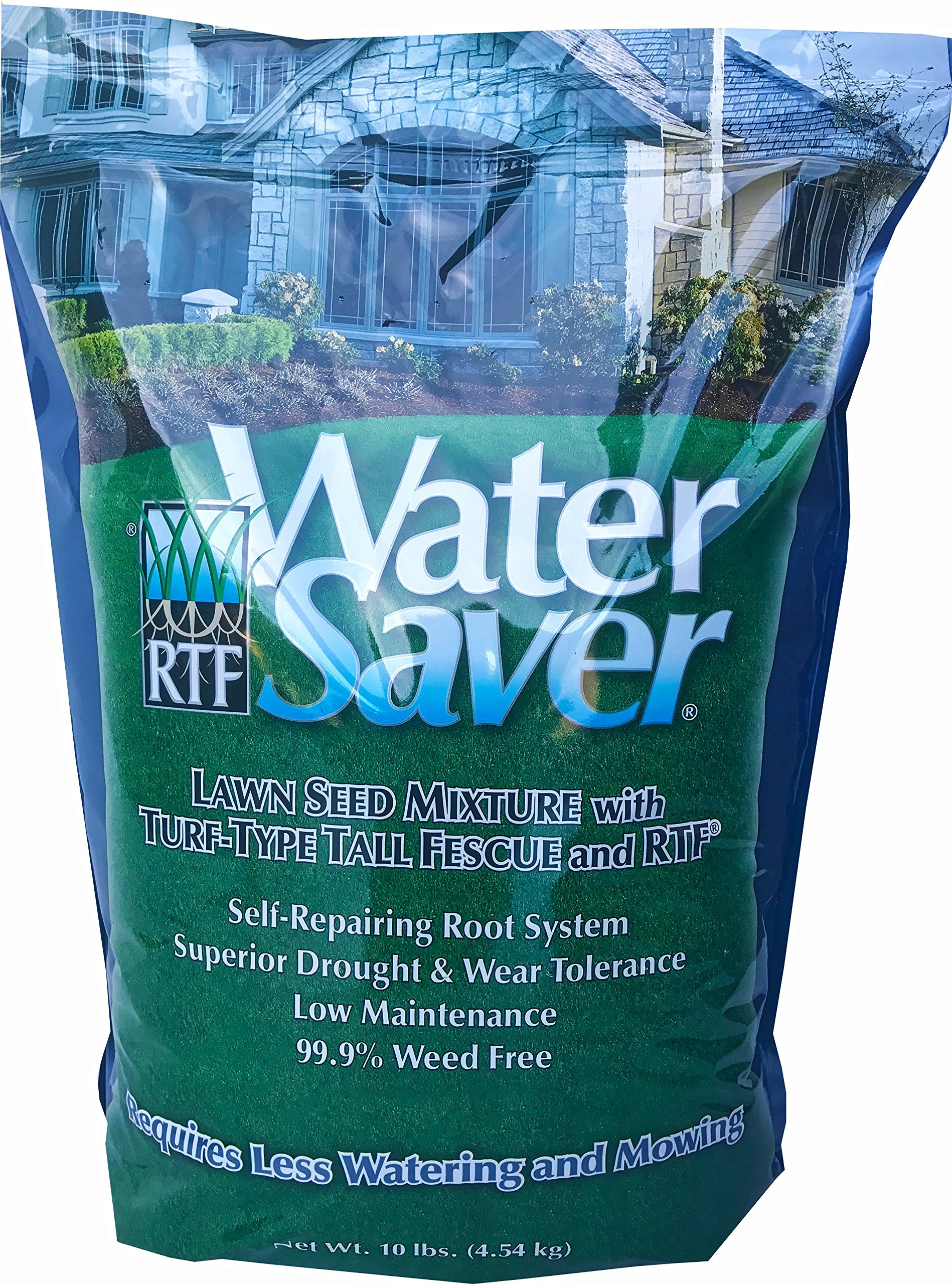 WaterSaver 11110 Water 10 Lawn Seed Blend, Size 10 lb