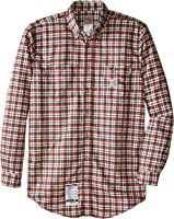 Carhartt Men's Big & Tall Flame Resistant Classic Plaid Shirt