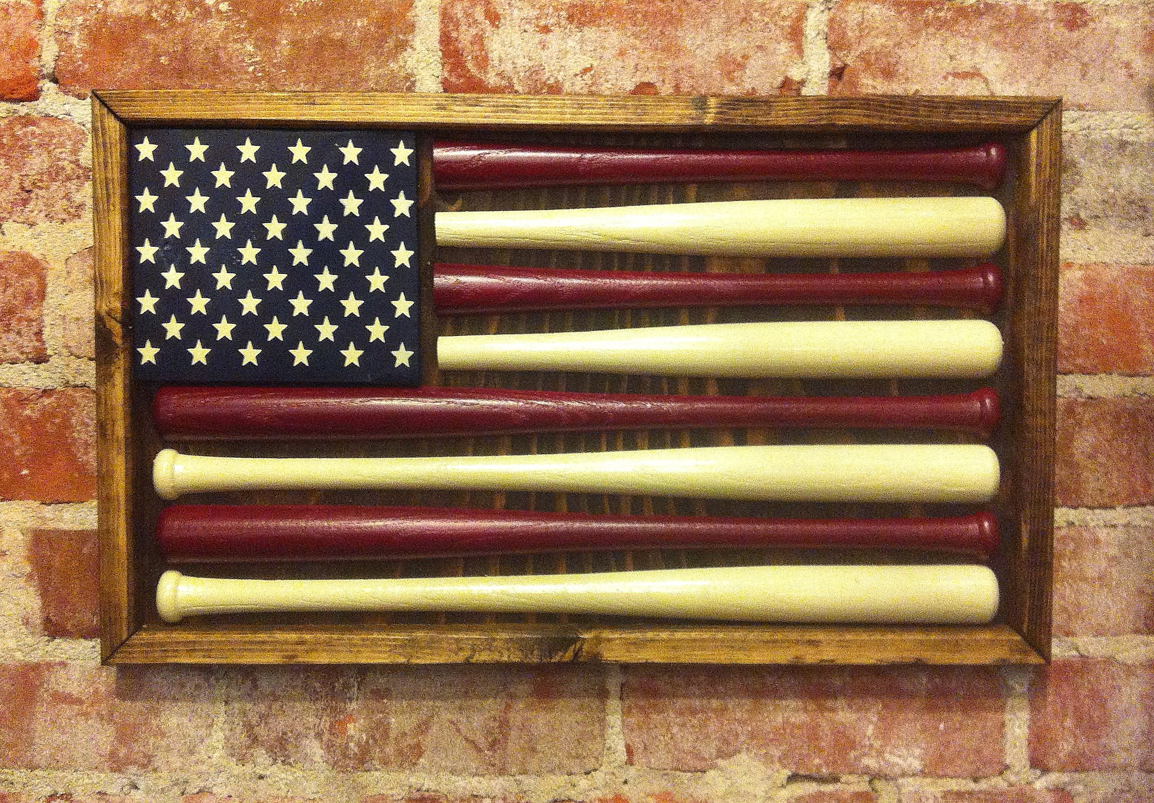 Baseball American Flag - Small by Chico Lumber Company