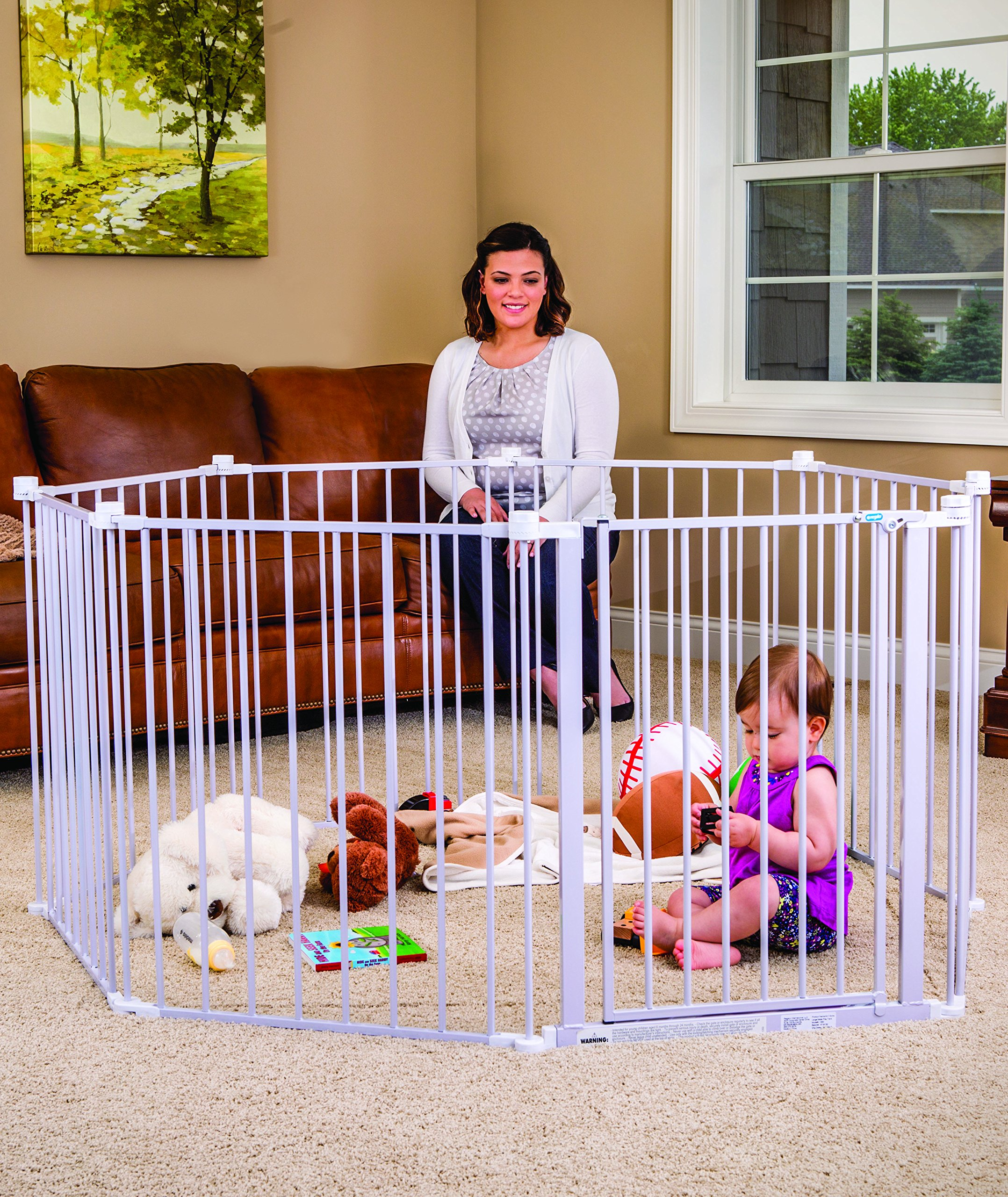 Regalo 192-Inch Super Wide Adjustable Baby Gate and Play Yard, 4-In-1, Bonus Kit, Includes 4 Pack of Wall Mounts by Regalo (Image #5)