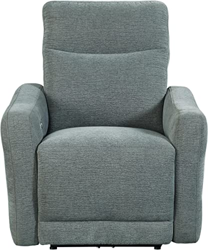 Homelegance Edition 34 Fabric Power Lay-Flat Power Recliner, Dove