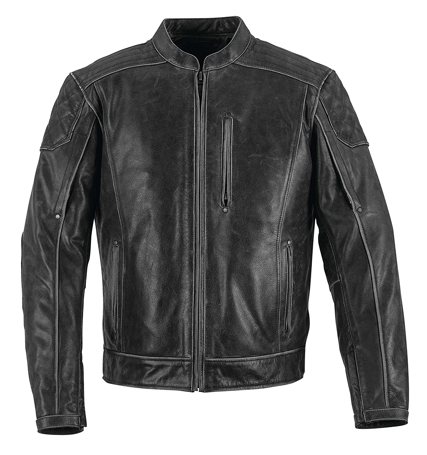 Black Brand Men's Men's Carry-On Black Leather Jacket BB3382