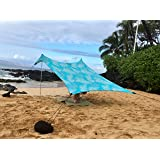 Neso Tents Beach Tent with Sand Anchor, Portable Canopy Sun Shelter - 7' x 7' - Patented Reinforced Corners